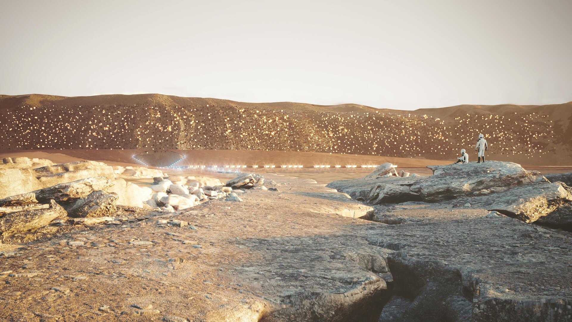 Nuwa City, arrival by rover | Nuwa City by ABIBOO Studio and SONet | STIRworld
