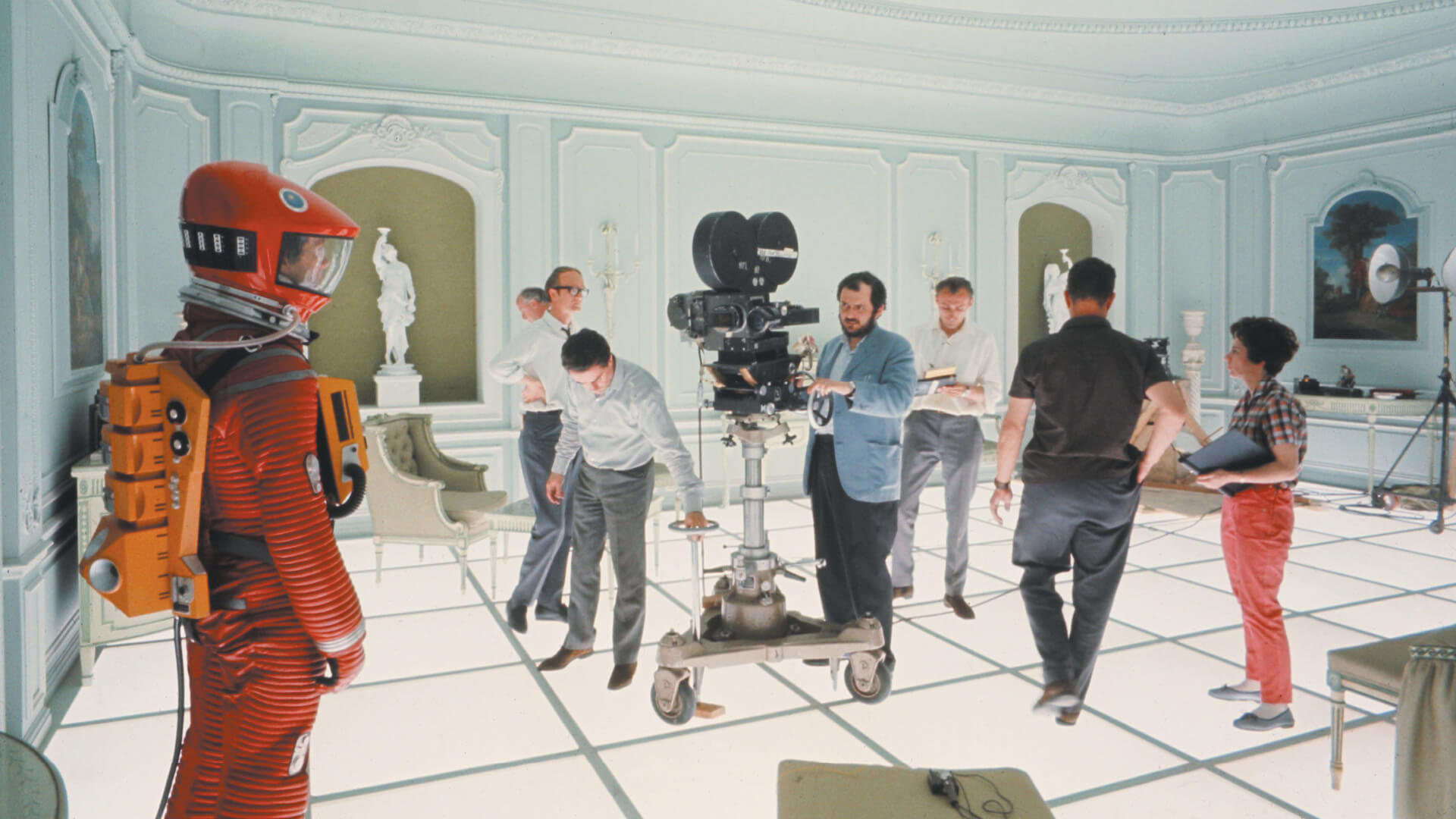On the Hotel Room set of 2001: A Space Odyssey (1968, Dir. Stanley Kubrick) | Space Odyssey exhibition | Stanley Kubrick | STIRworld