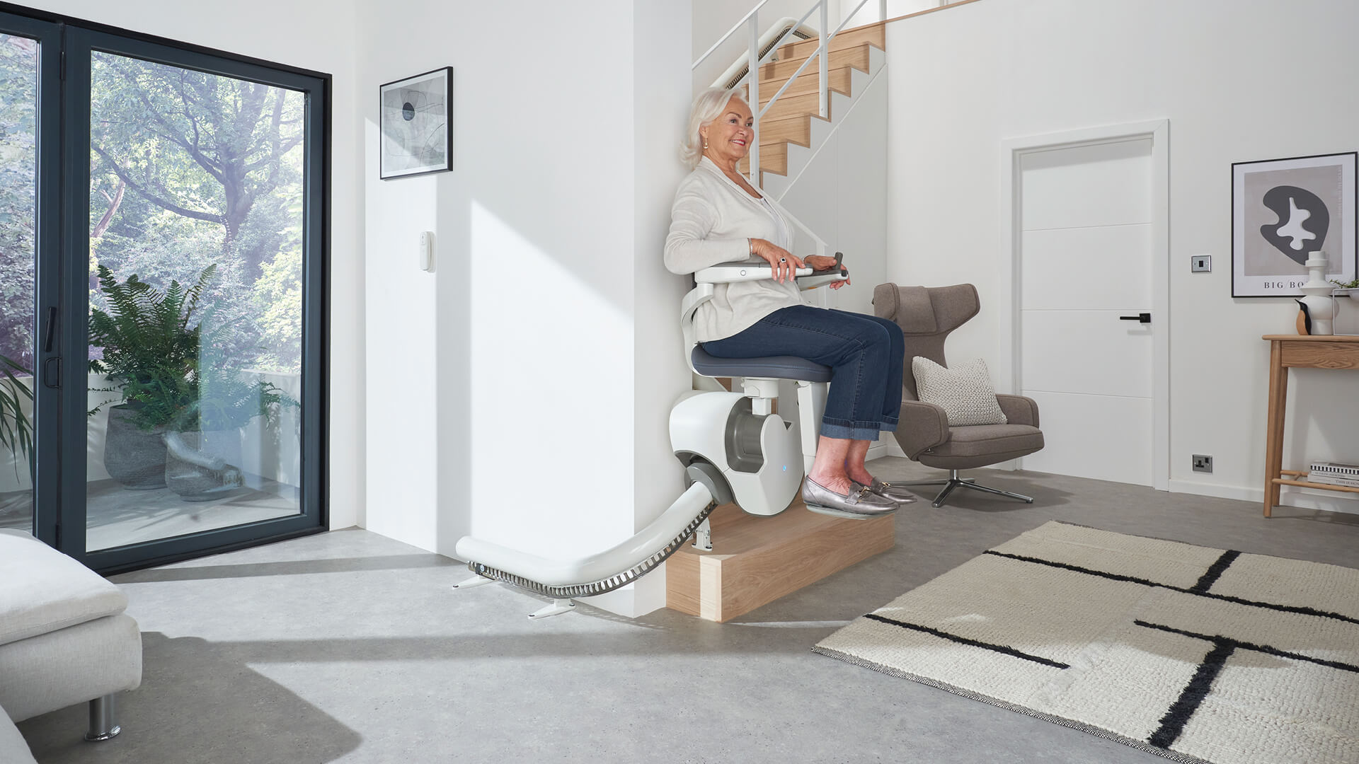 Pearson Lloyd develops Flow X as a stairlift for the 21st century