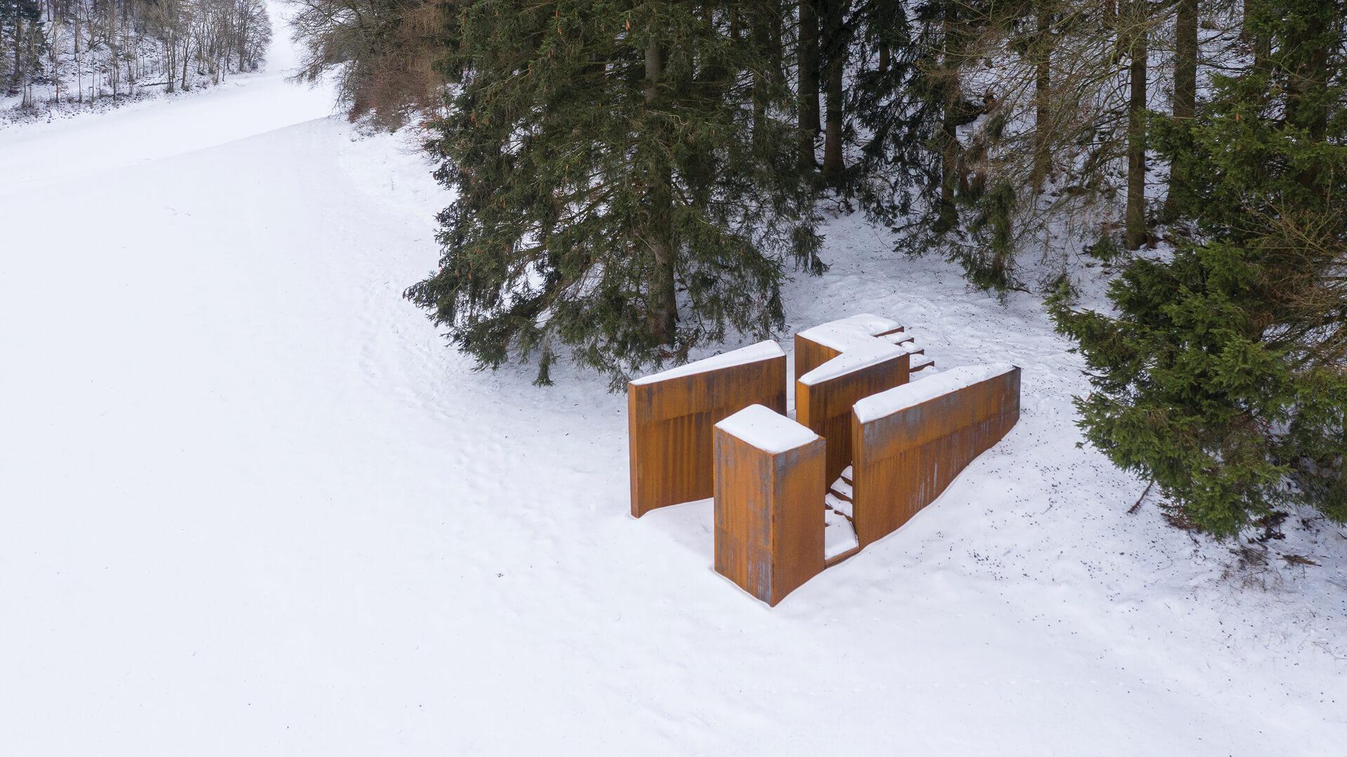 Pflug bird's eye view, winter photo | Open Mind Places and Ways of Life | Christoph Hesse | STIRworld