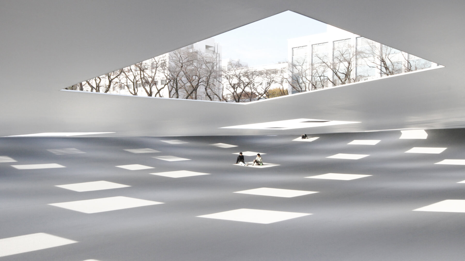 Plaza of Kanagawa Institute of Technology in Japan | Plaza of Kanagawa by Junya.Ishigami+Associates | STIRworld