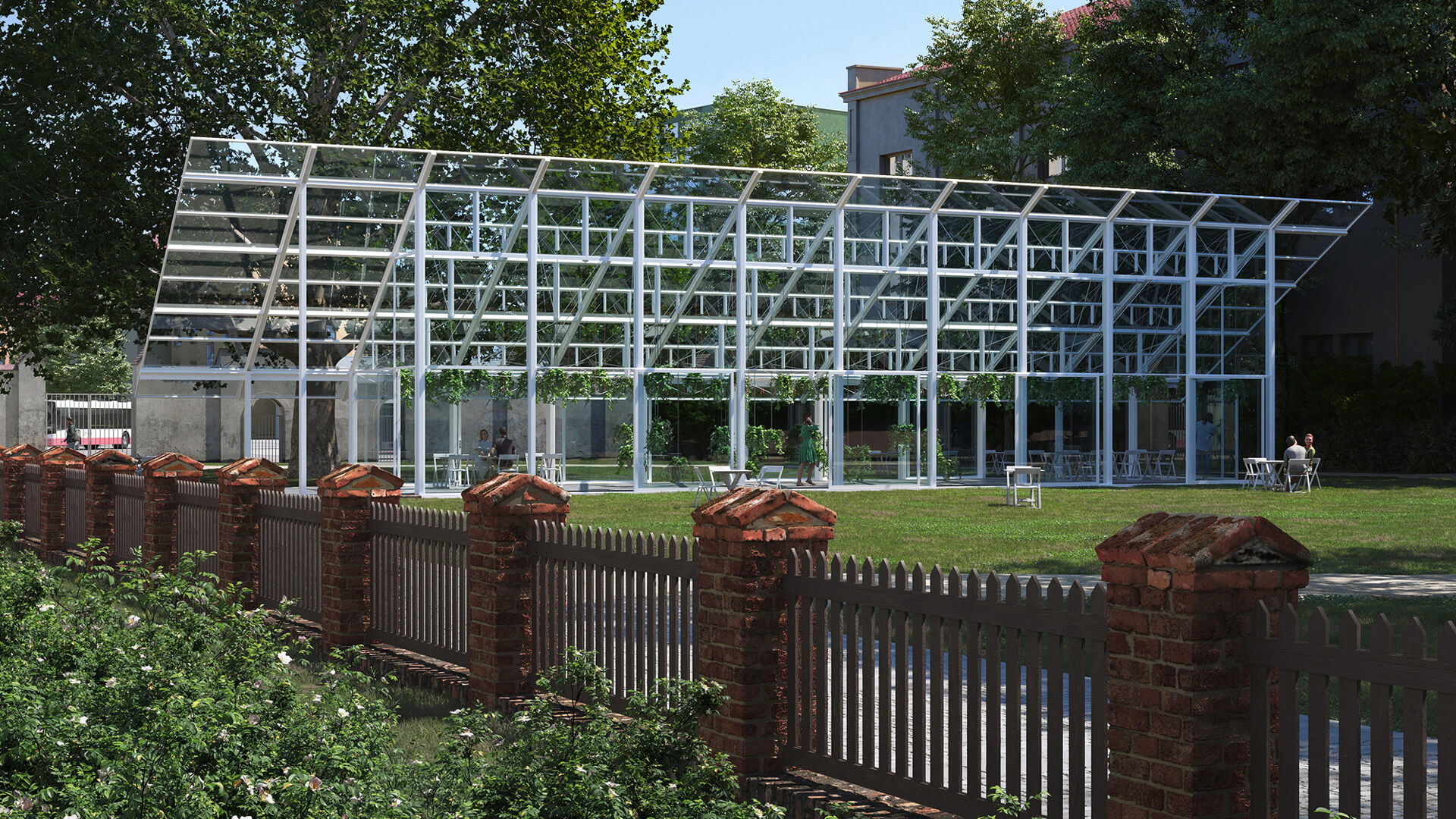 Rendering of the Mendel Greenhouse project | CHYBIK+KRISTOF | Greenhouse, Brno | STIRworld