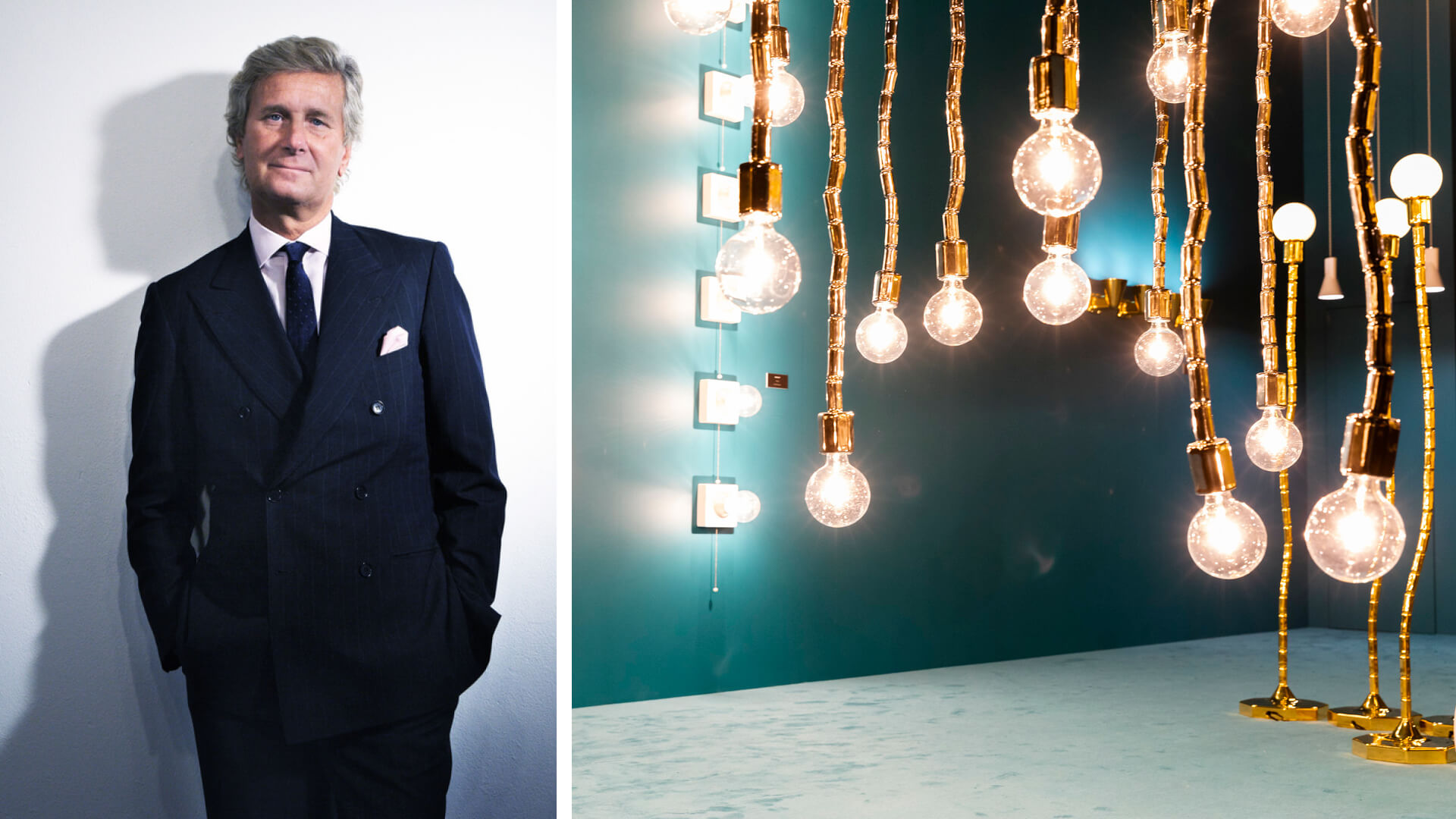 Salone del Mobile.Milano President Claudio Luti and Flaminia at Euroluce 2019 | Salone del Mobile.Milano | Milan Design Week 2021 | STIRworld