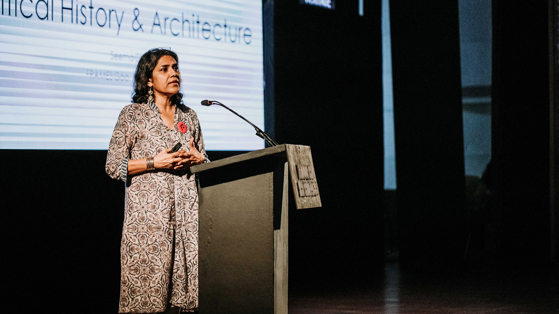 Seema Chishti speaking at the Frame Conclave 2019, Goa | Frame Conclave 2019 | Seema Chishti | STIR