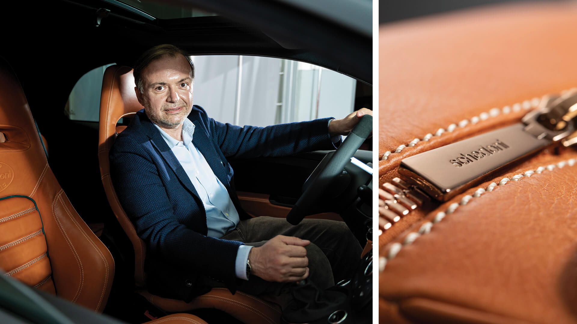 Simone Schedoni, President of the beloved Italian company Schedoni that creates bespoke luggage for high-end automotive brands such as Ferrari and McLaren | Schedoni | STIRworld