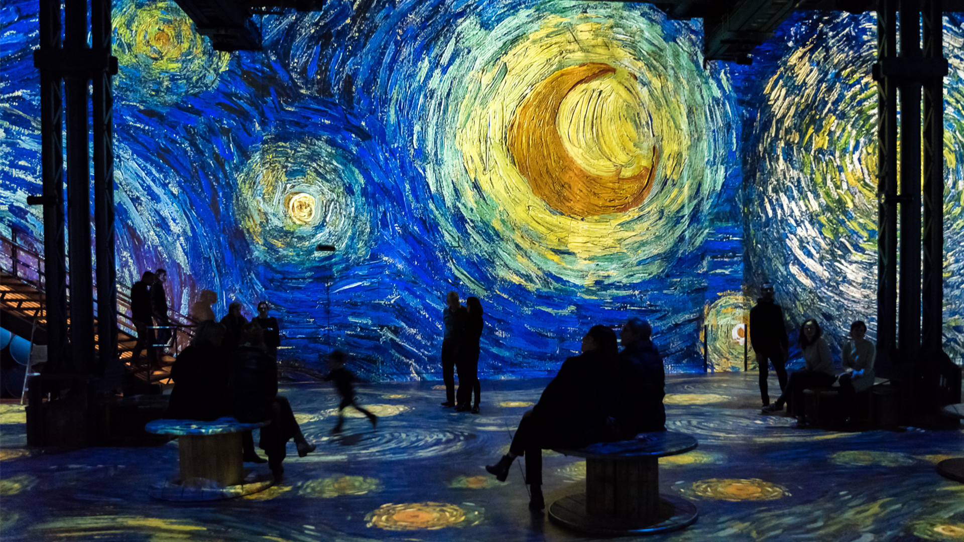Simulation of the exhibition Gustav Klimt, Installation view 1 | Gustav Klimt | Atelier des Lumières | STIR