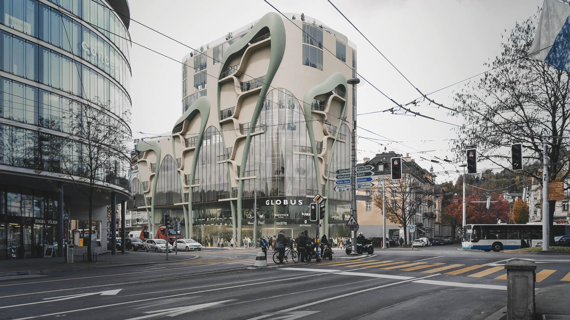 Alpen-Akelei Haus in Lucerne, Switzerland, merges biology with computation