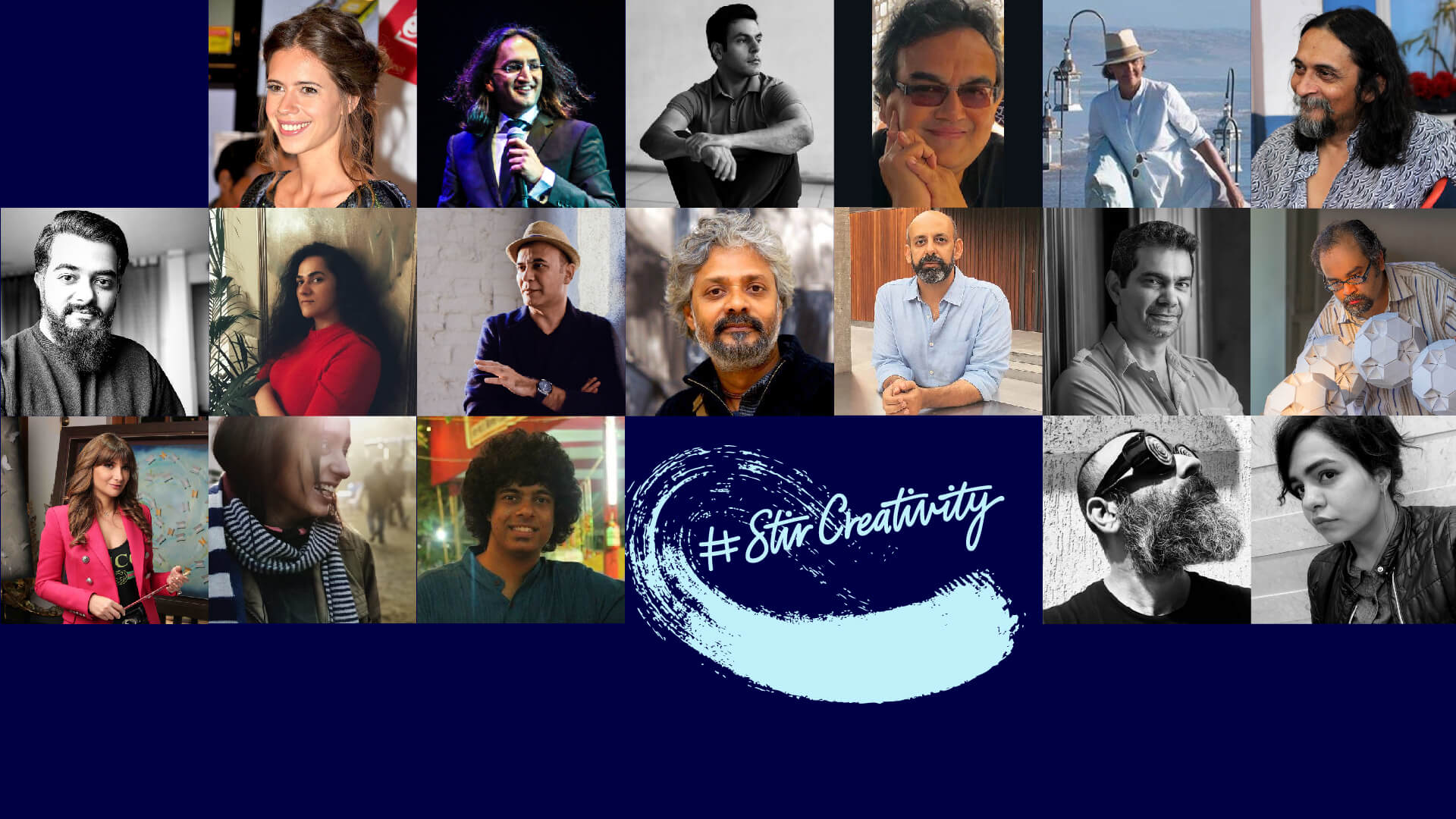The artists who participated in the STIR Creativity x Bombay Sapphire fundraising campaign | STIRworld