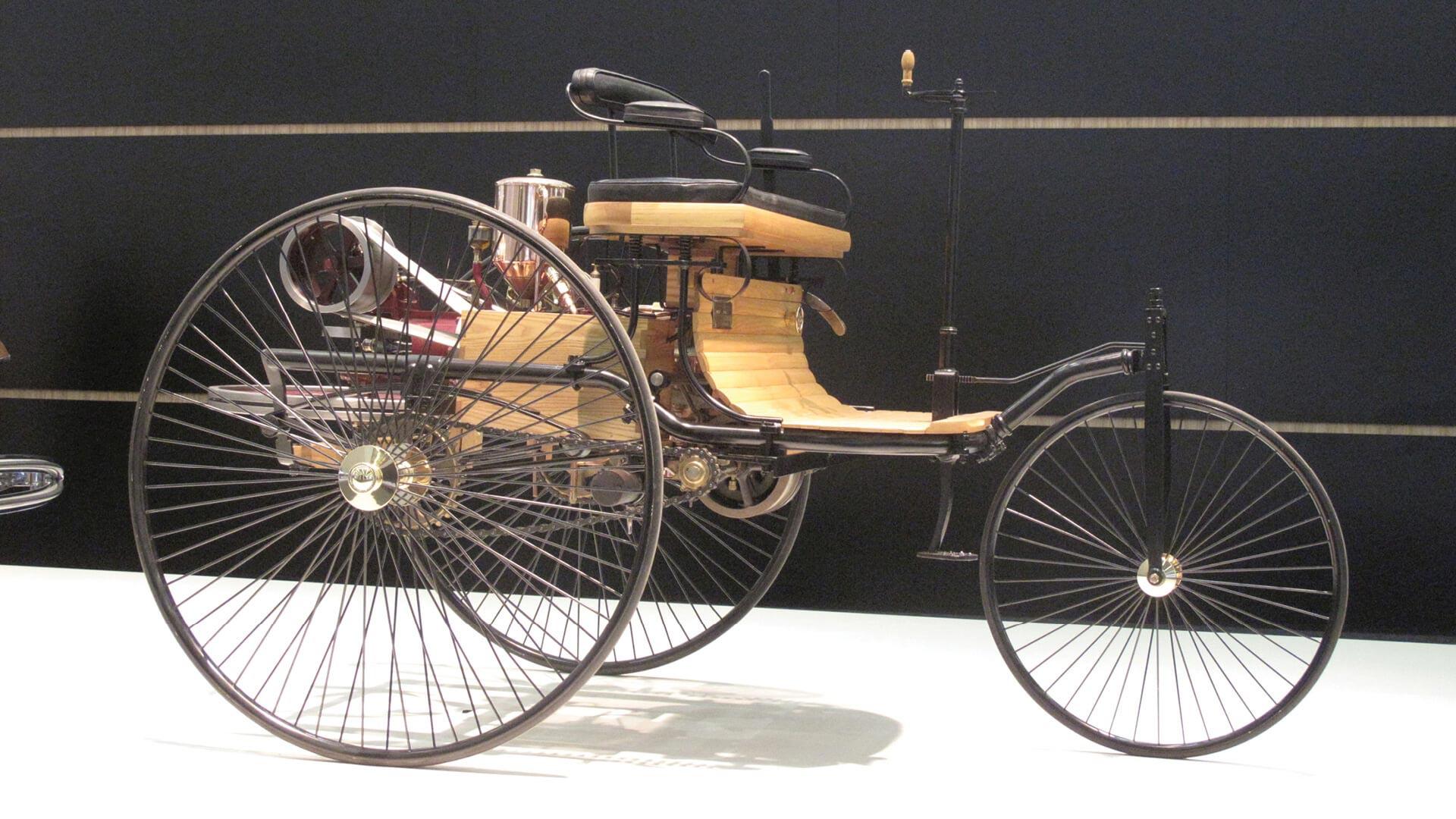 The Benz Patent-Motorwagen replica at Mercedes-Benz Museum Stuttgart | Freewheeling | Gautam Sen and Avik Chattopadhyay | STIRworld