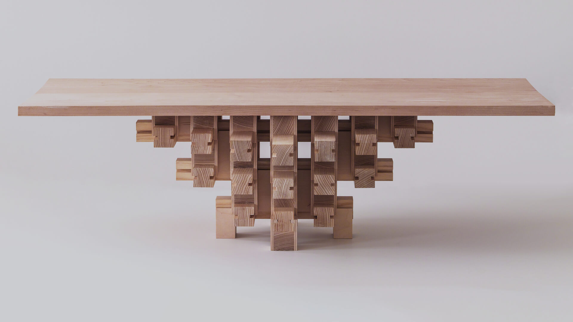 The Dougong Table crafted by Boston-based industrial designer Mian Wei | Dougong Table by industrial designer Mian Wei | STIRworld