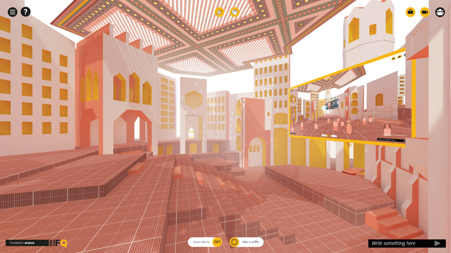 An architectural conference in VR by Space Popular reflects virtual togetherness