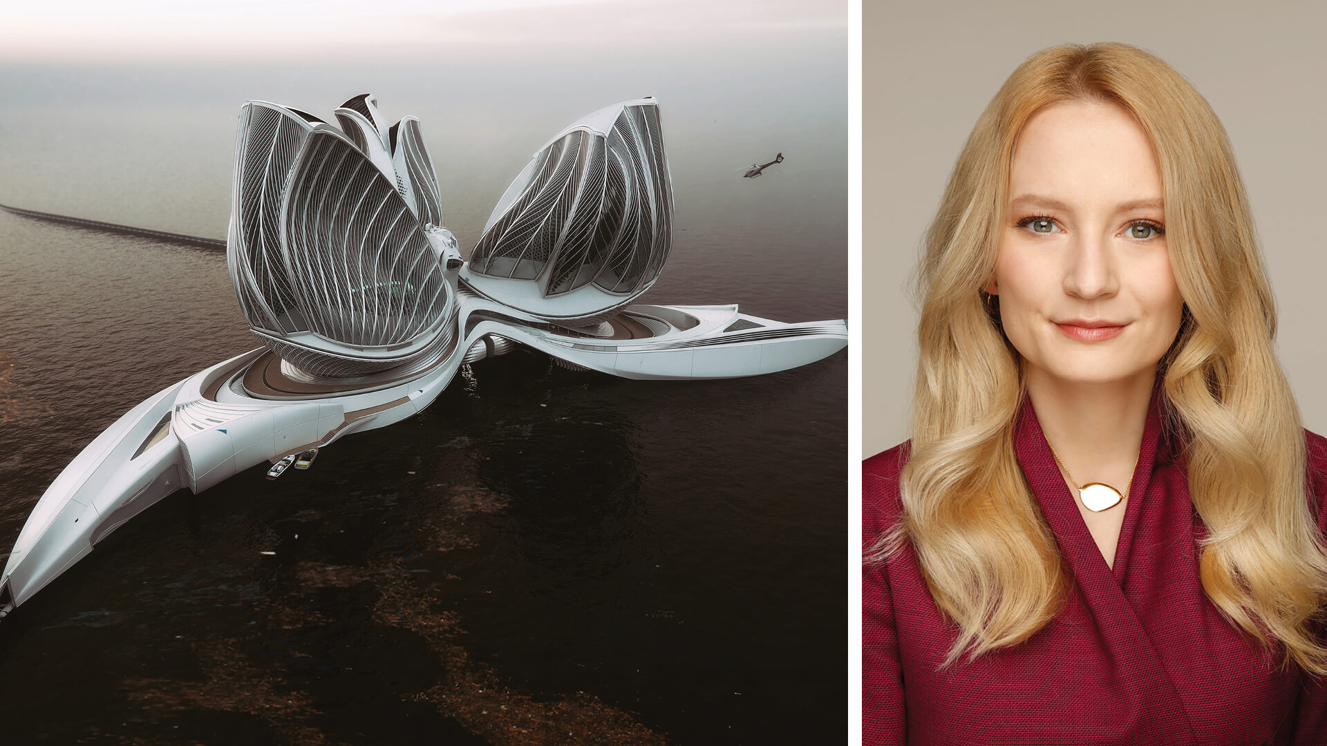 The floating centre prototype called '8rh Continent' is designed with three incredible glass forms emerging from an elegant spiral base | The 8th Continent by Lenka Petráková | STIRworld