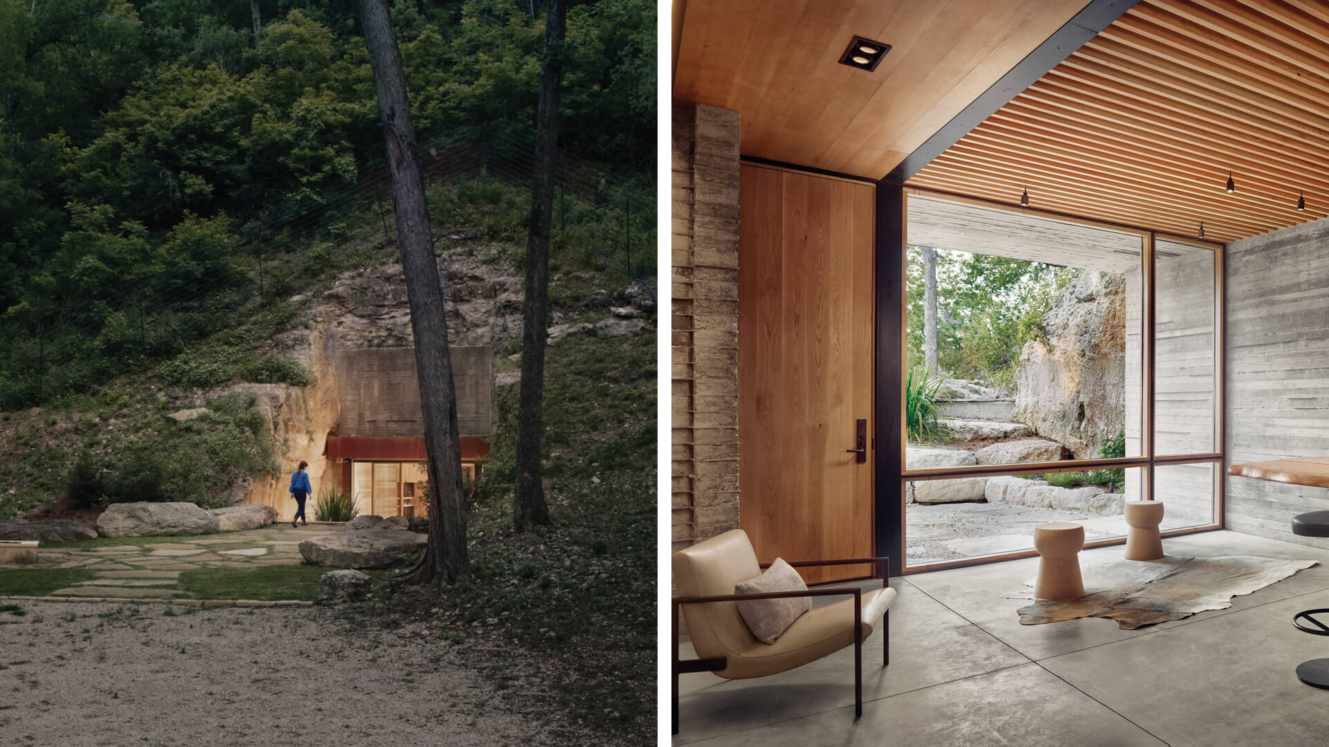Clayton Korte nestles Hill Country Wine Cave in the face of a limestone hill