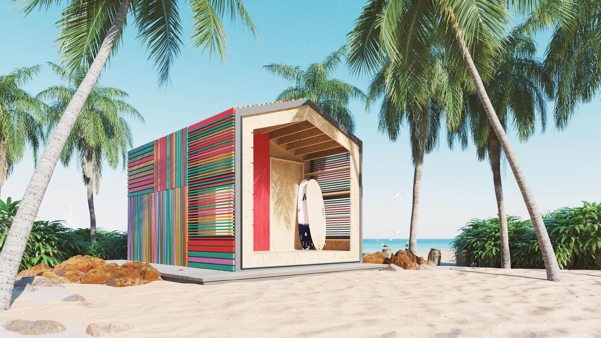 JaK Studio unveils modular cabins inspired by the popular online game Minecraft
