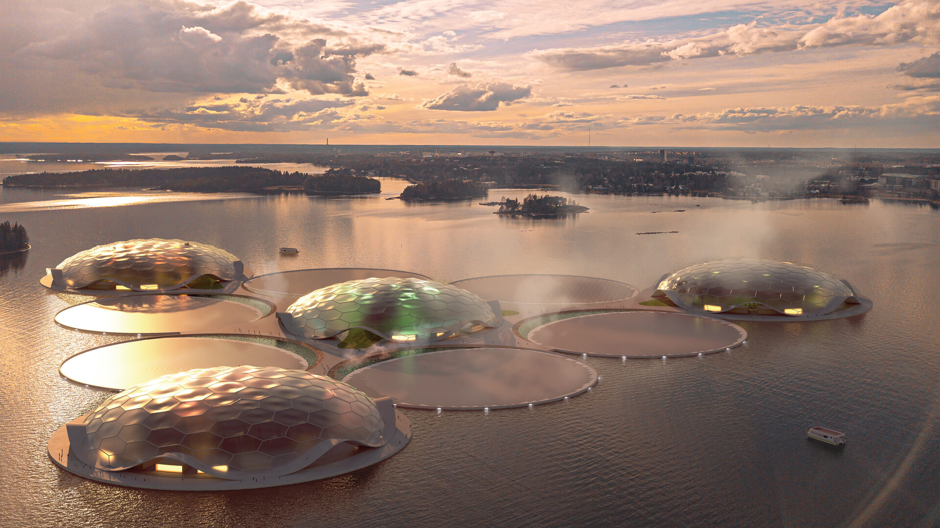 The Hot Heart is an island cluster designed to store thermal energy for the city of Helsinki, Finland | Hot Heart, Helsinki | Carlo Ratti Associati | STIRworld