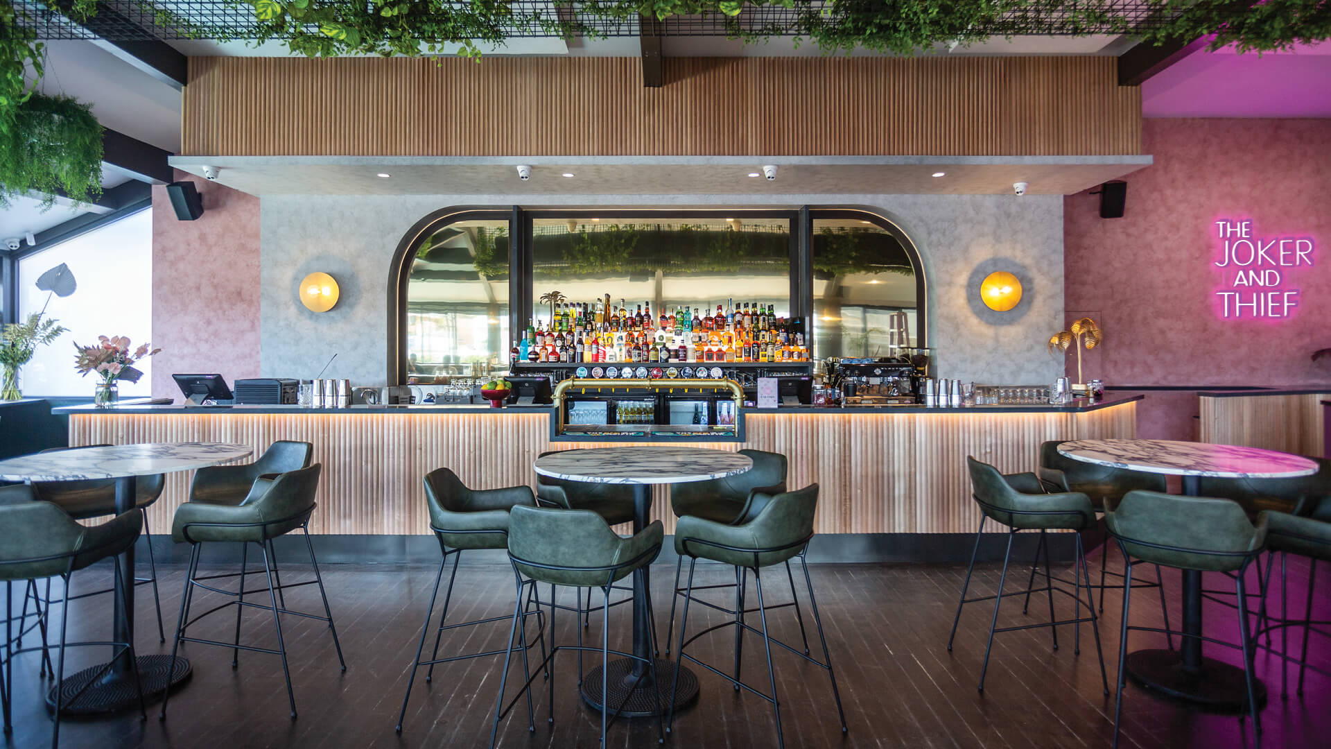 The Joker and Thief bar and restaurant in Terrigal oceanfront, Australia | The Joker and Thief by Fabric Architecture in collaboration with Studio Highfield  | STIRworld