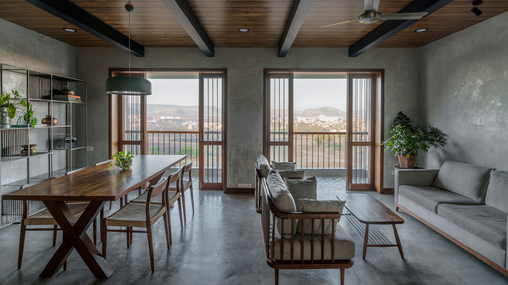 The living and dining areas, with the landscape beyond | Amoeba Design | STIRworld