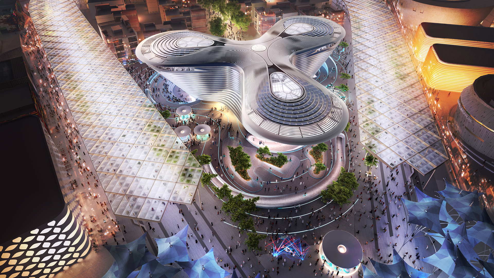 The Mobility Pavilion at the Expo 2020 Dubai designed by Foster + Partners | | Mobility | Pavilion | Expo 2020| Dubai| STIRworld