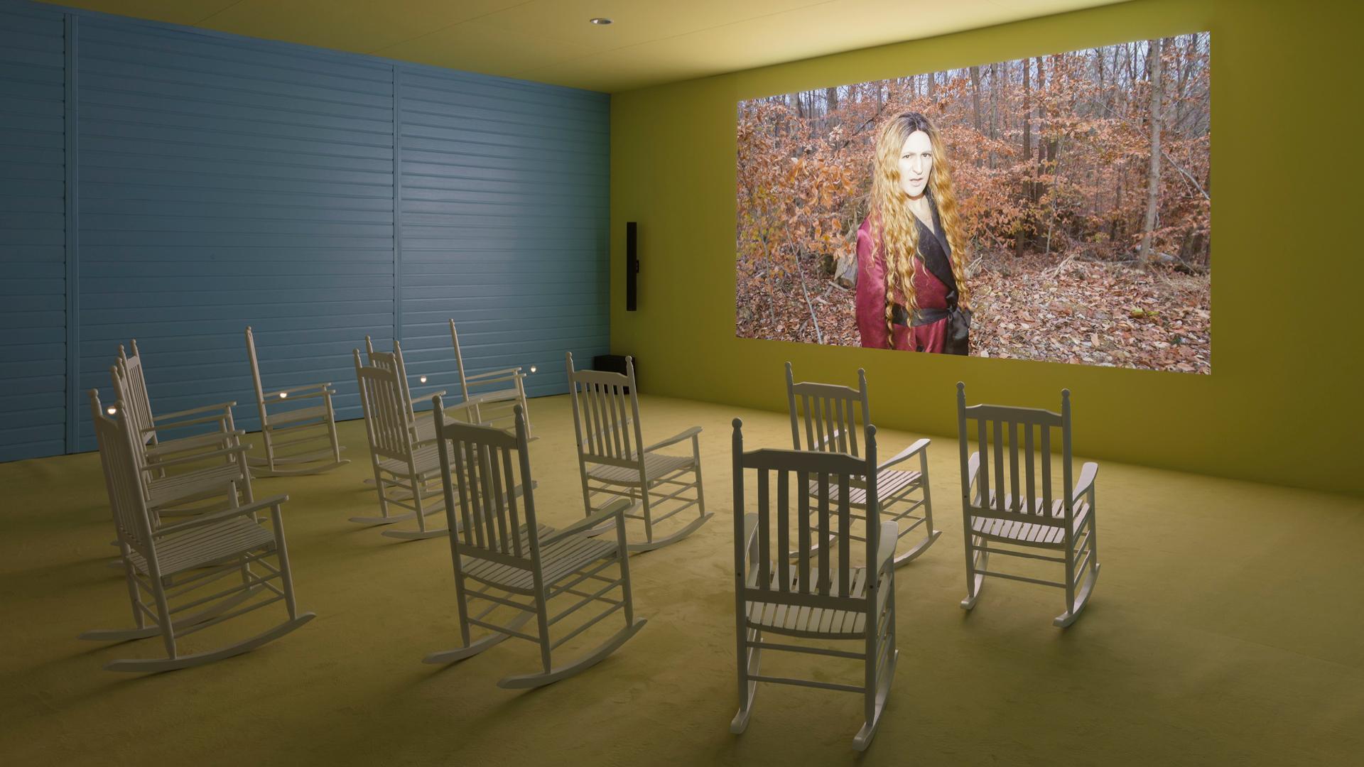 The Movies, 2019, Lizzie Fitch, Installation shot 1 | Ryan Trecartin Fondazione Prada, 2019 | Whether Line| Lizzie Fitch | Ryan Trecartin | Fondazione Prada|STIR