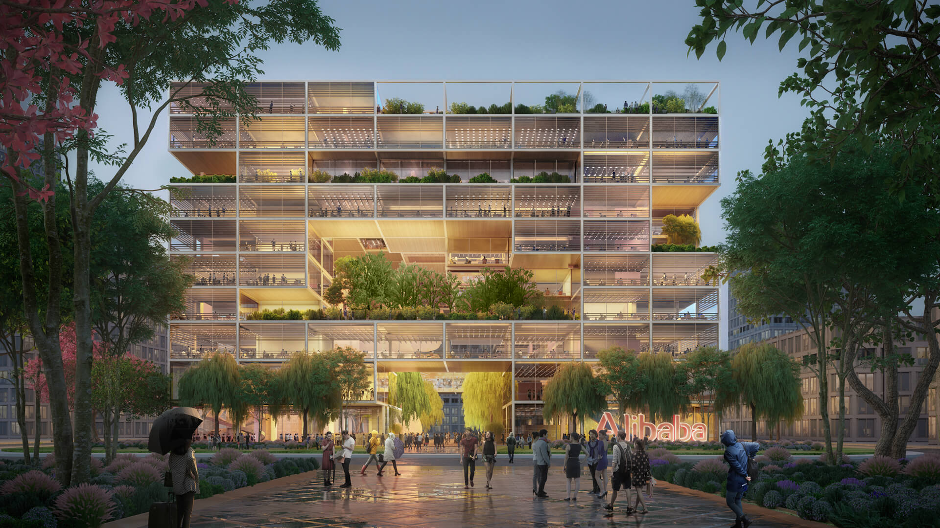 The new offices for Alibaba to be built by Foster + Partners in Shanghai, China | Alibaba Headquarters | Foster and Partners | STIRworld