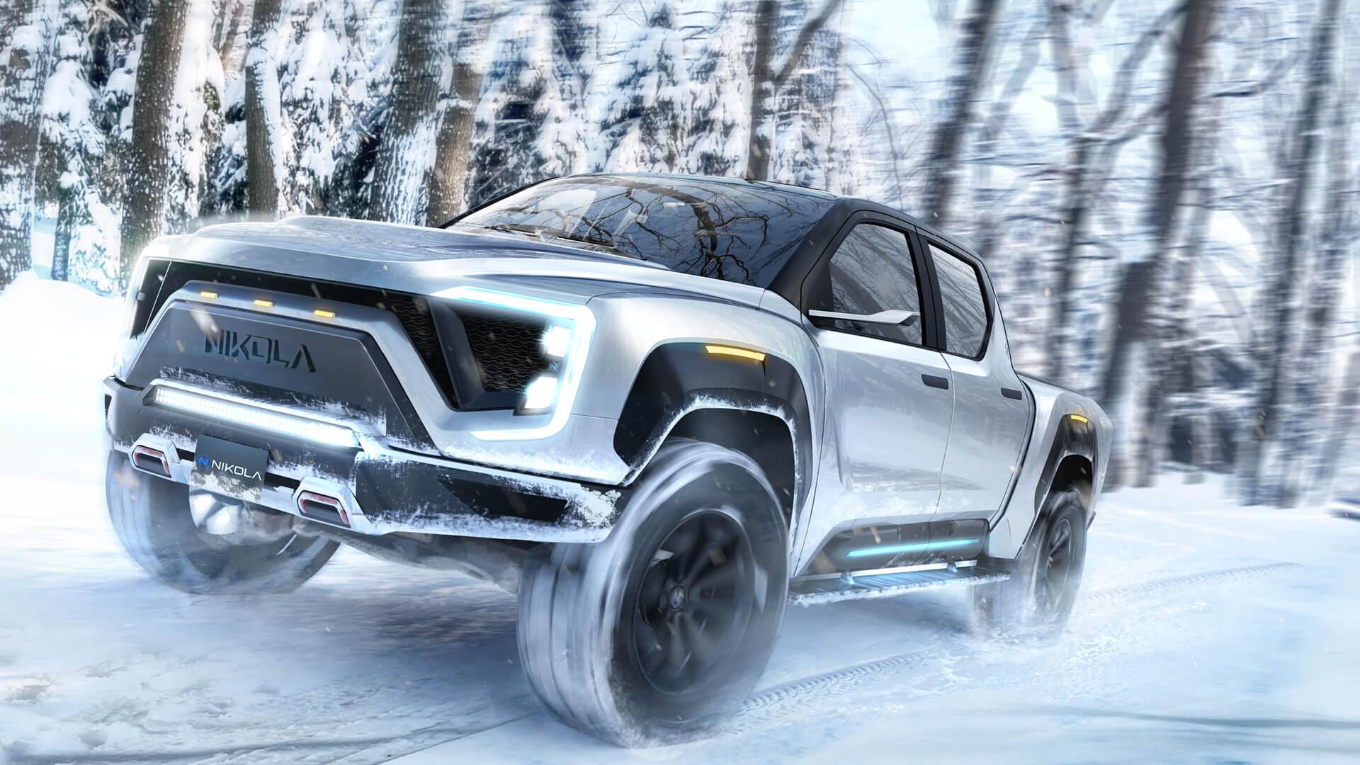 Nikola Badger: 900 HP hydrogen-electric pickup truck with a 600-mile range