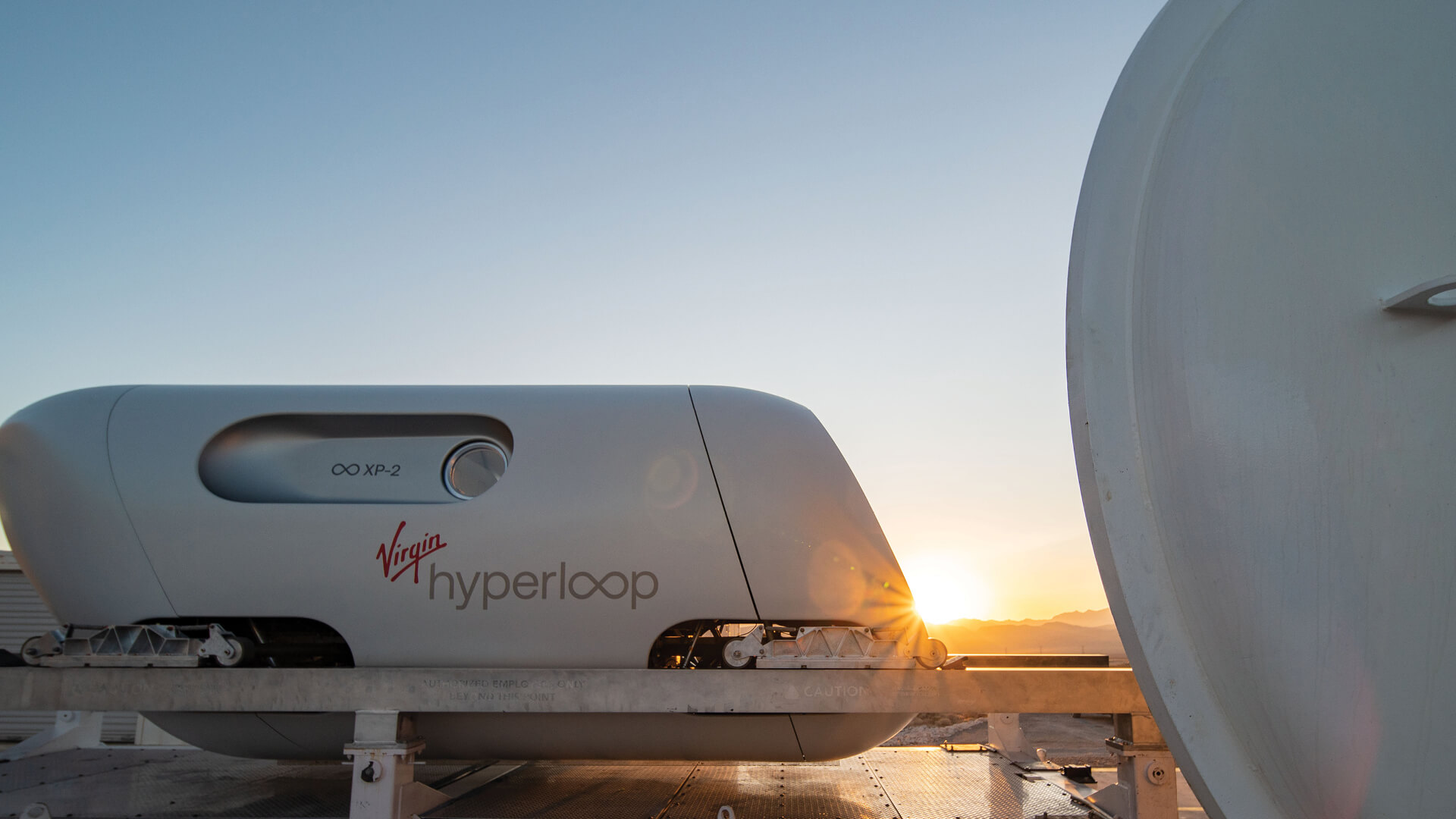 BIG-designed Virgin Hyperloop pod 'Pegasus' completes first manned test run