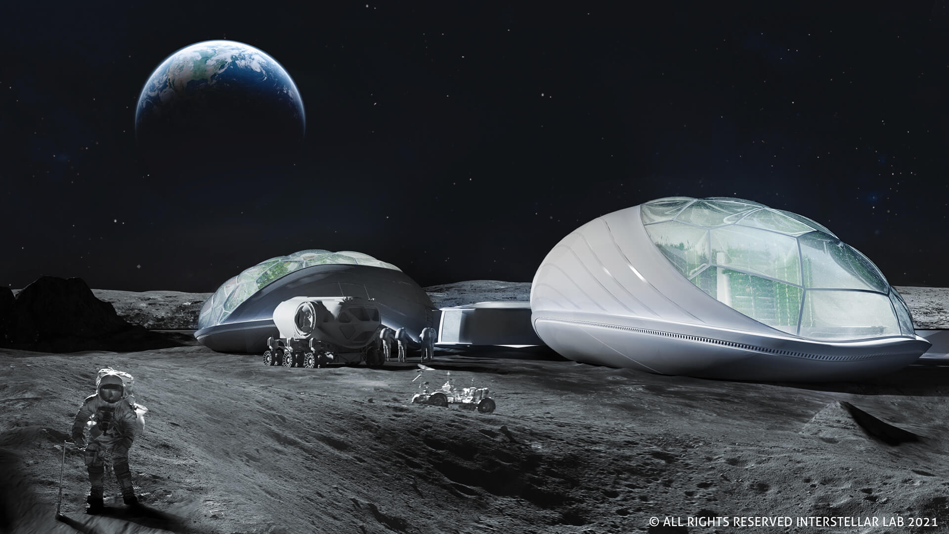 The Pod imagined on the moon's surface | The BioPod | Interstellar Lab | STIRworld