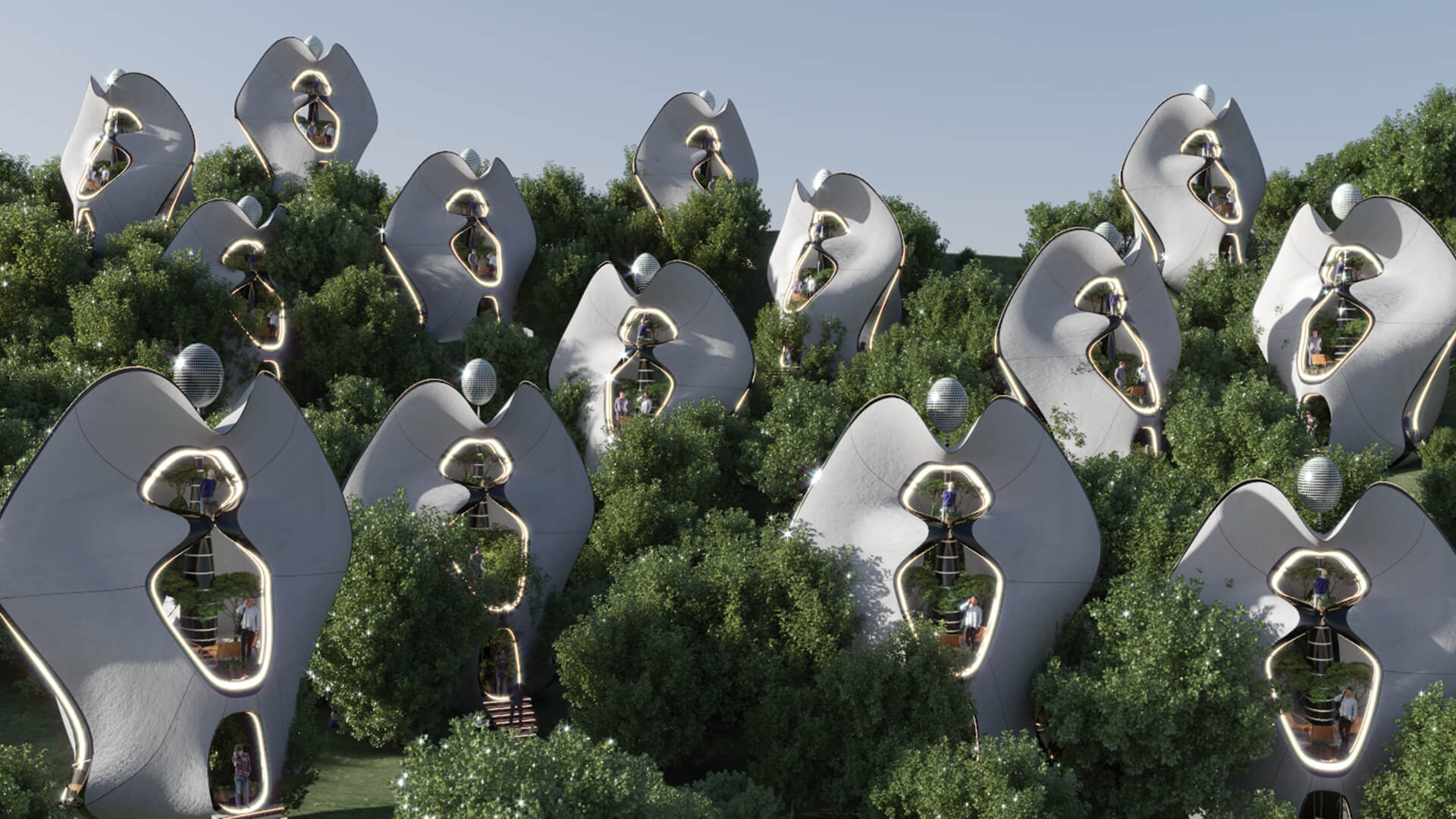MASK Architects uses 'Exosteel' to create modular prefabricated houses in Italy