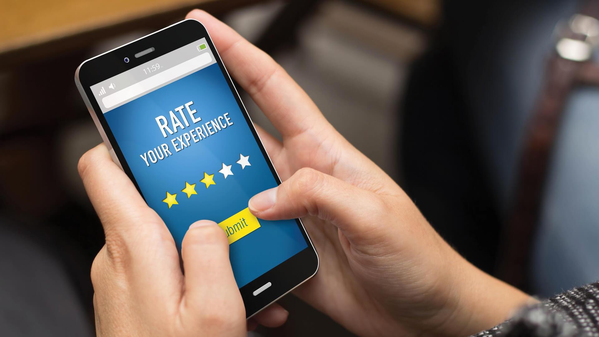 The rating screen for online reviews | Digital Legacies: Criticism | Julius Wiedemann | STIRworld