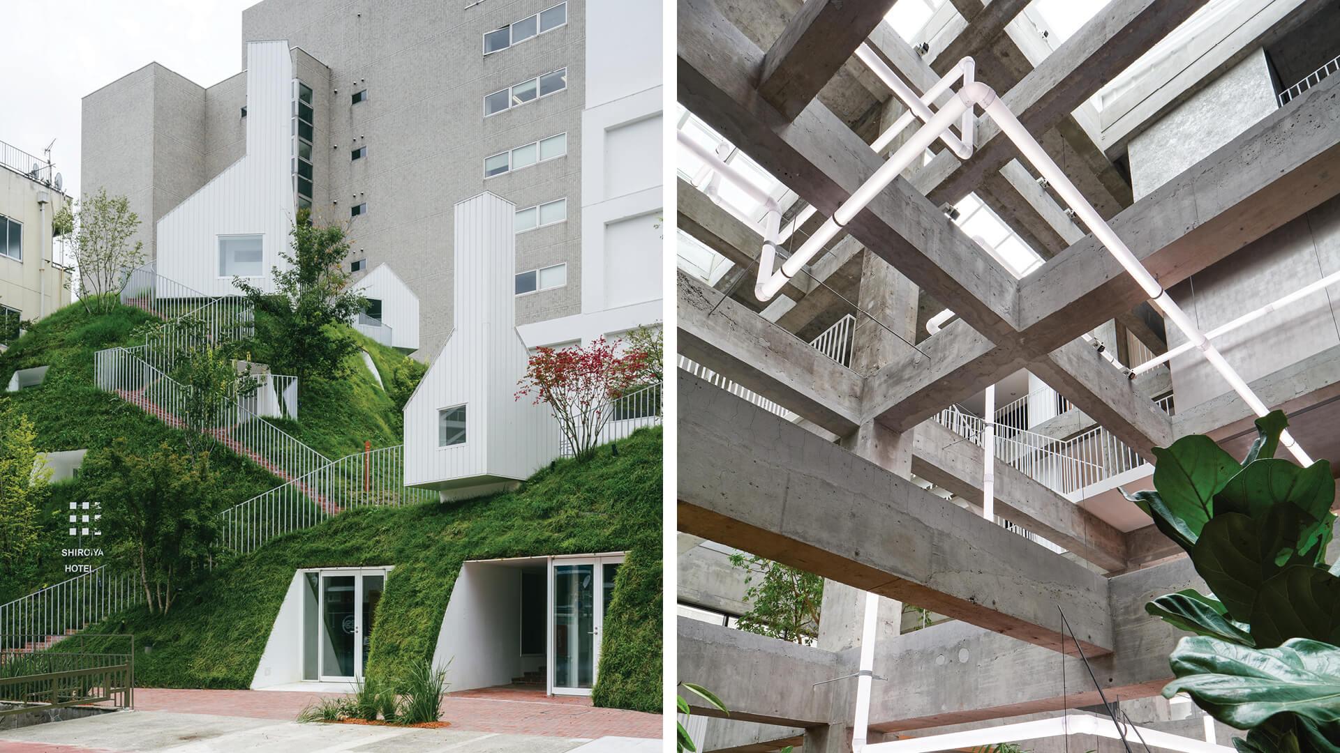 Sou Fujimoto Architects revamp Shiroiya Hotel as a dichotomic urban 'living room'