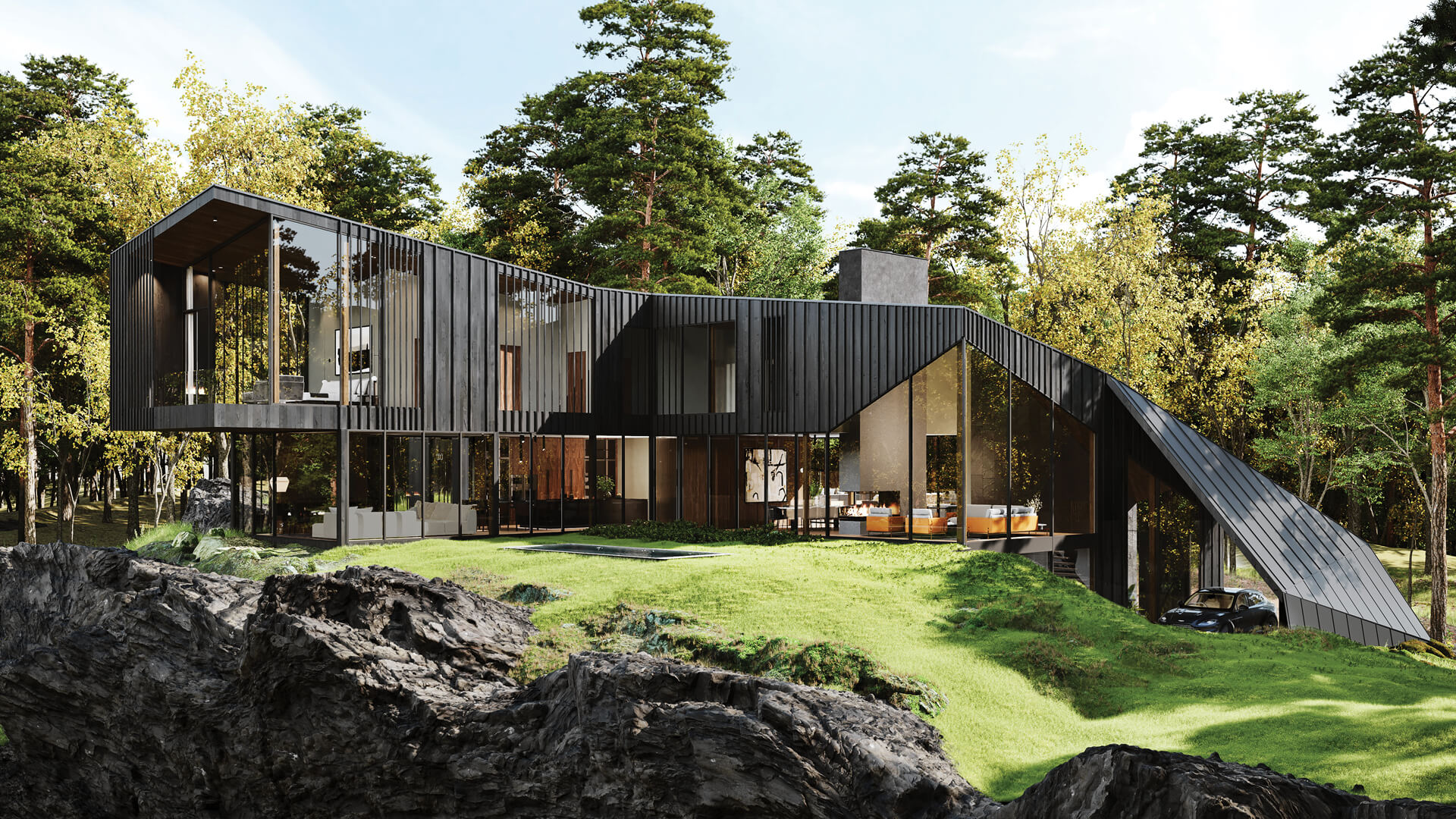 Aston Martin Design and S3 Architecture's Sylvan Rock reimagines residential luxury