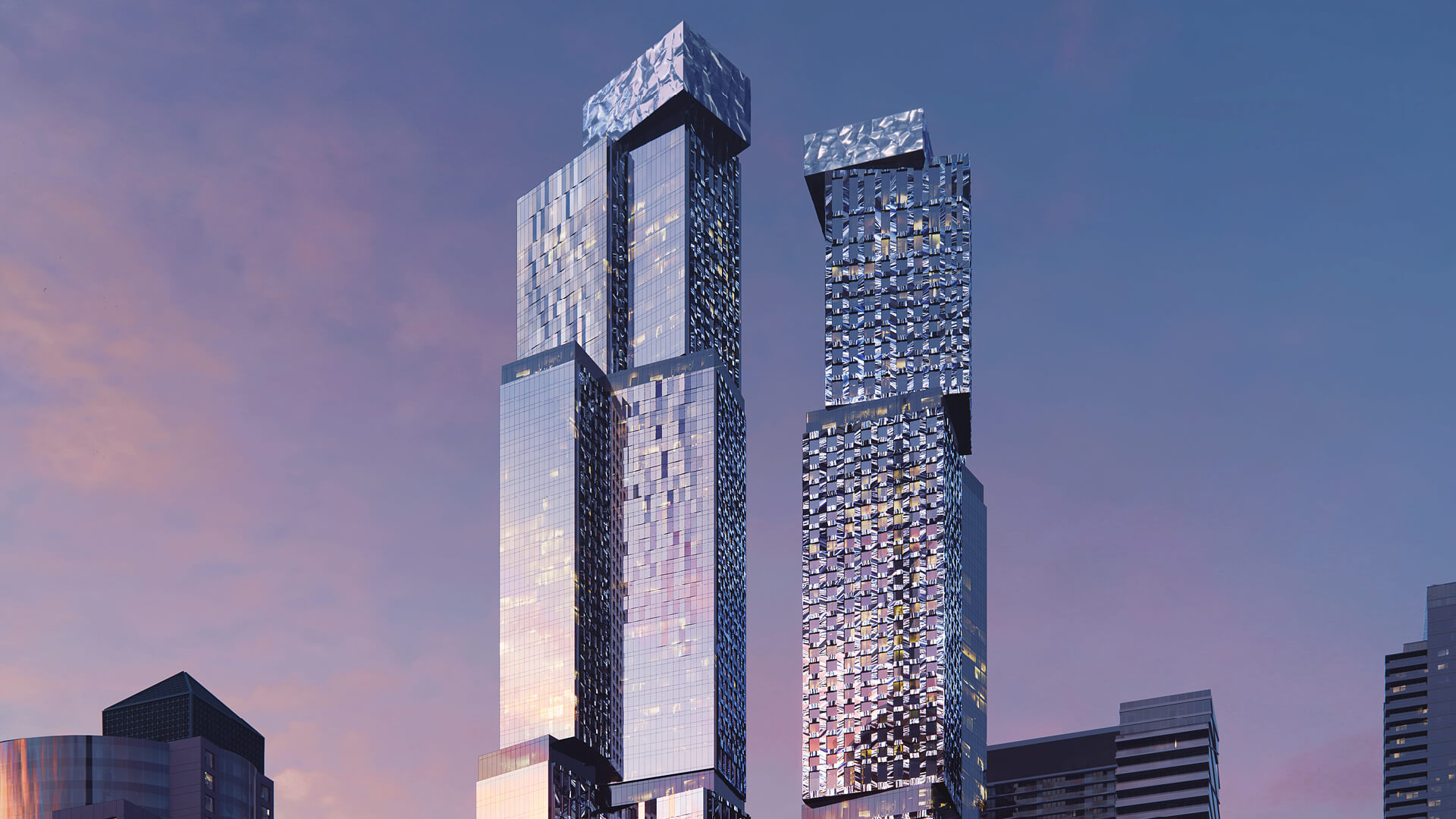 Frank Gehry's twin skyscrapers in Toronto, Canada revealed after more revisions