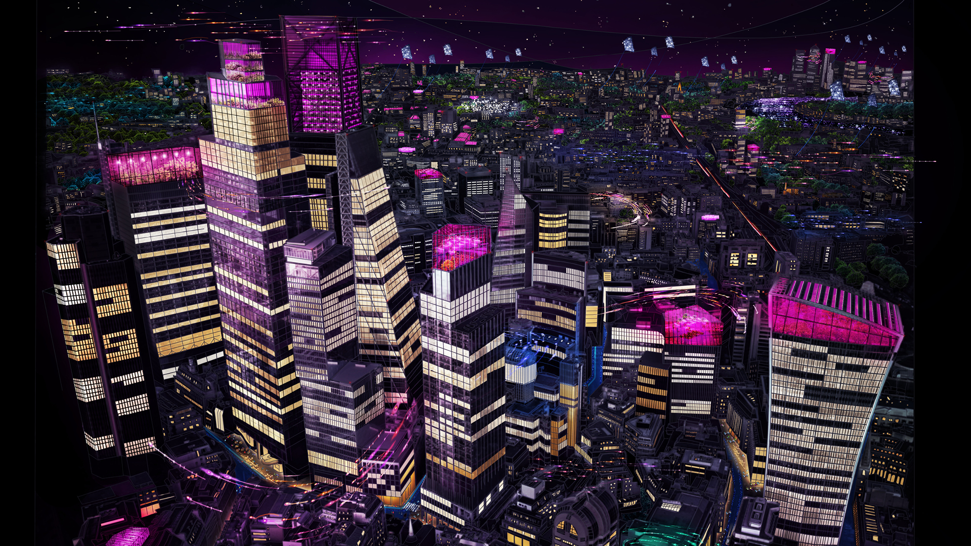 Third Age of Light by Speirs + Major - Aerial View of London at night | Third Age of Light VR Experience | Speirs + Major | STIRworld