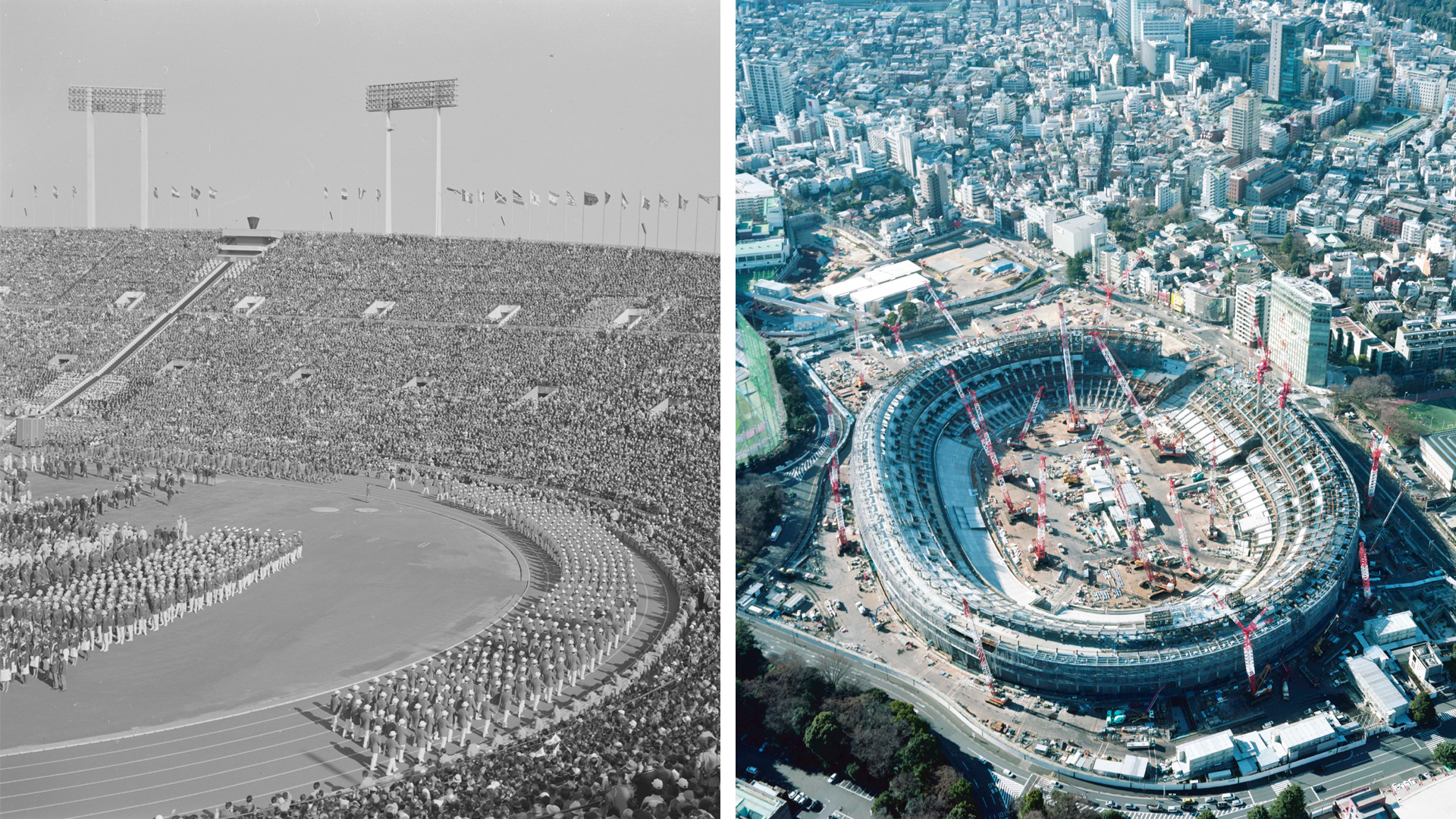 Tokyo Olympics Opening Ceremony at National Stadium (1964); New National Stadium (2017) | Made in Tokyo | STIRworld