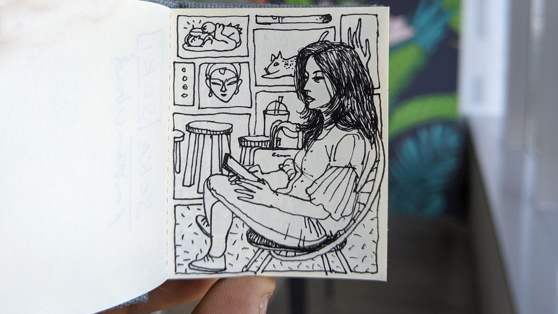 Untitled, ink on paper| Sam Kulavoor| STIR