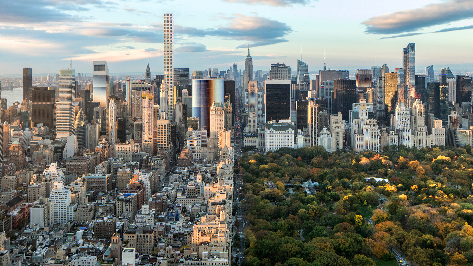 View from Uptown towards Central Park and Midtown, with 432 Park Avenue | New York | Vladimir Belogolovsky | STIRworld