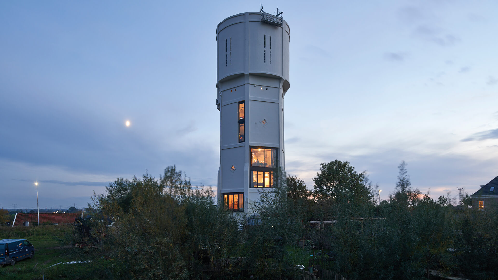 RVArchitecture transforms a water tower in the Netherlands to house two families