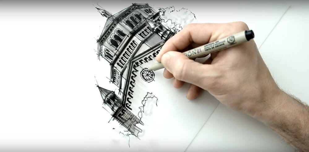 Exploring Los Angeles - a drawing tutorial with Dan Hogman