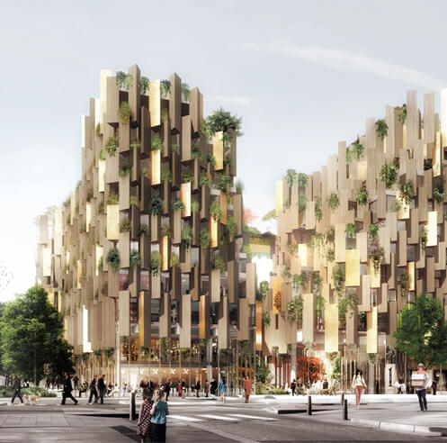 Kengo Kuma punctuates the city fabric in Paris with green design