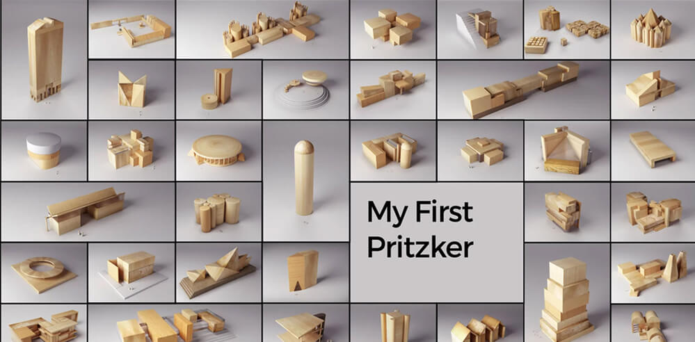 Andrea Stinga turns 'Pritzker buildings' into abstracted models for video