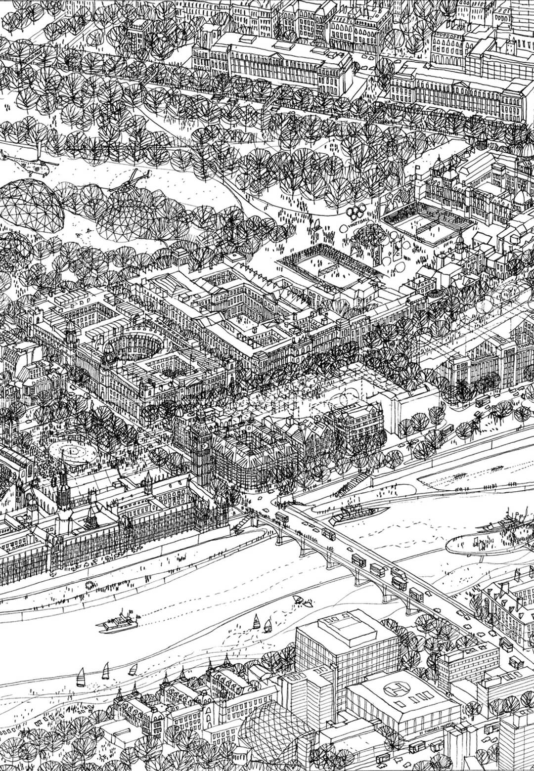 Aerial vision for London, on paper