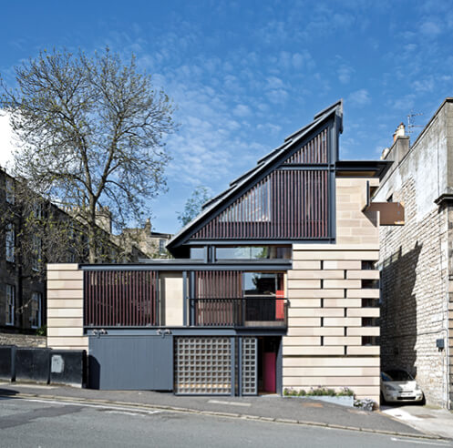 Richard Murphy's designs a modern home for himself in Edinburgh