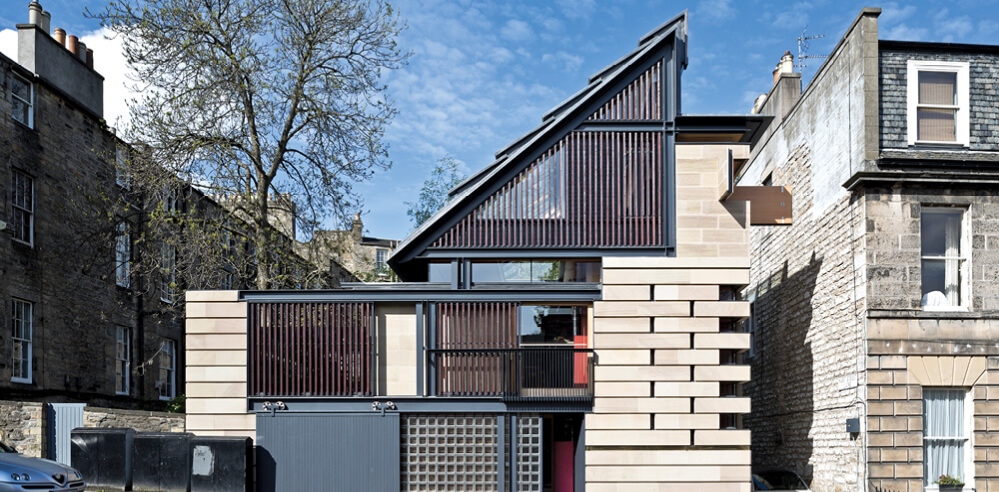 Richard Murphy designs a modern home for himself in Edinburgh