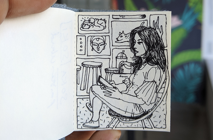 Travelling sketches by Sam Kulavoor