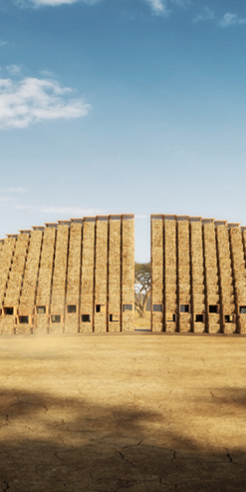 Mumbai's architecture firm Nudes uses straw bales to design a school in Malawi