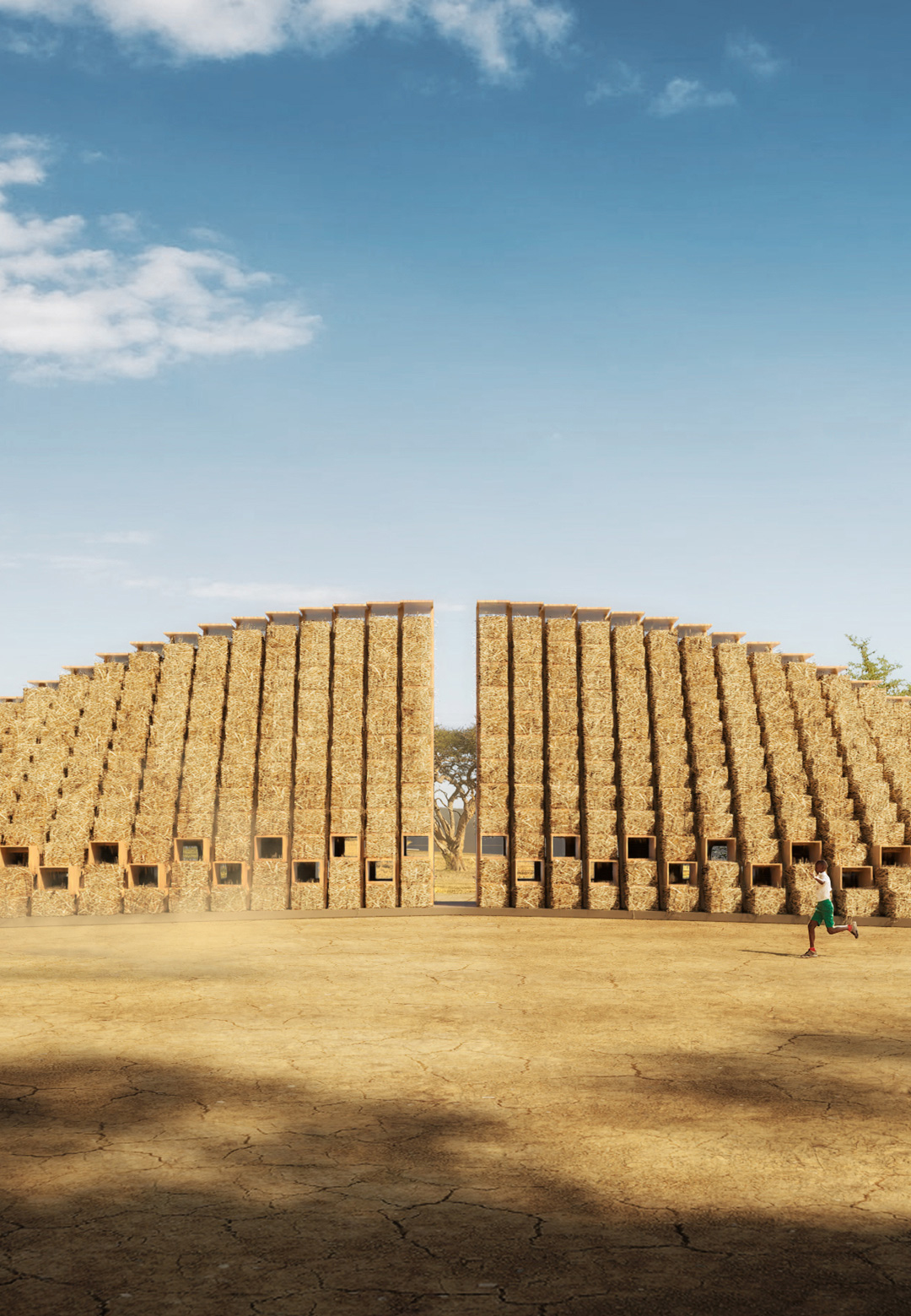Design proposed for Straw Bale School, Malawi, East Africa| Straw Bale School| Nudes| STIR