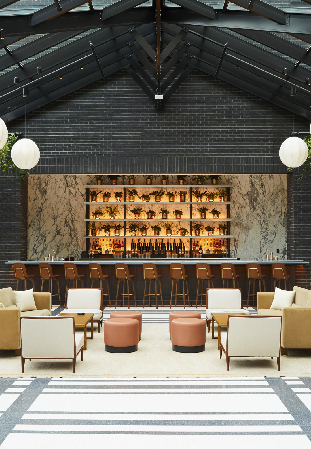 The annexe at the Shinola Hotel brings together the historic Singer Building and the T.B. Rayl Co store| Shinola Hotel| Gachot Studio | STIR