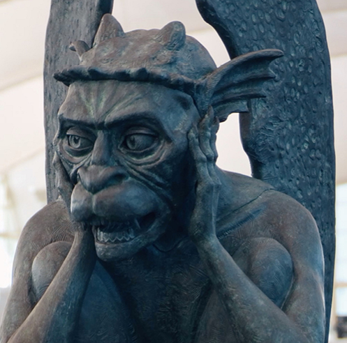 A talking gargoyle that is trending online