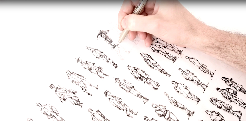 Sketching people – a drawing tutorial by Dan Hogman