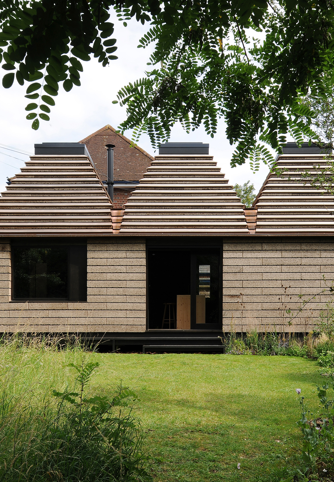 The Cork House in Eton, England, designed by Matthew Barnett Howland with Dido Milne and Oliver Wilton| Matthew Barnett Howland | Dido Milne| Oliver Wilton| The Cork House| RIBA Stirling Prize 2019| STIR